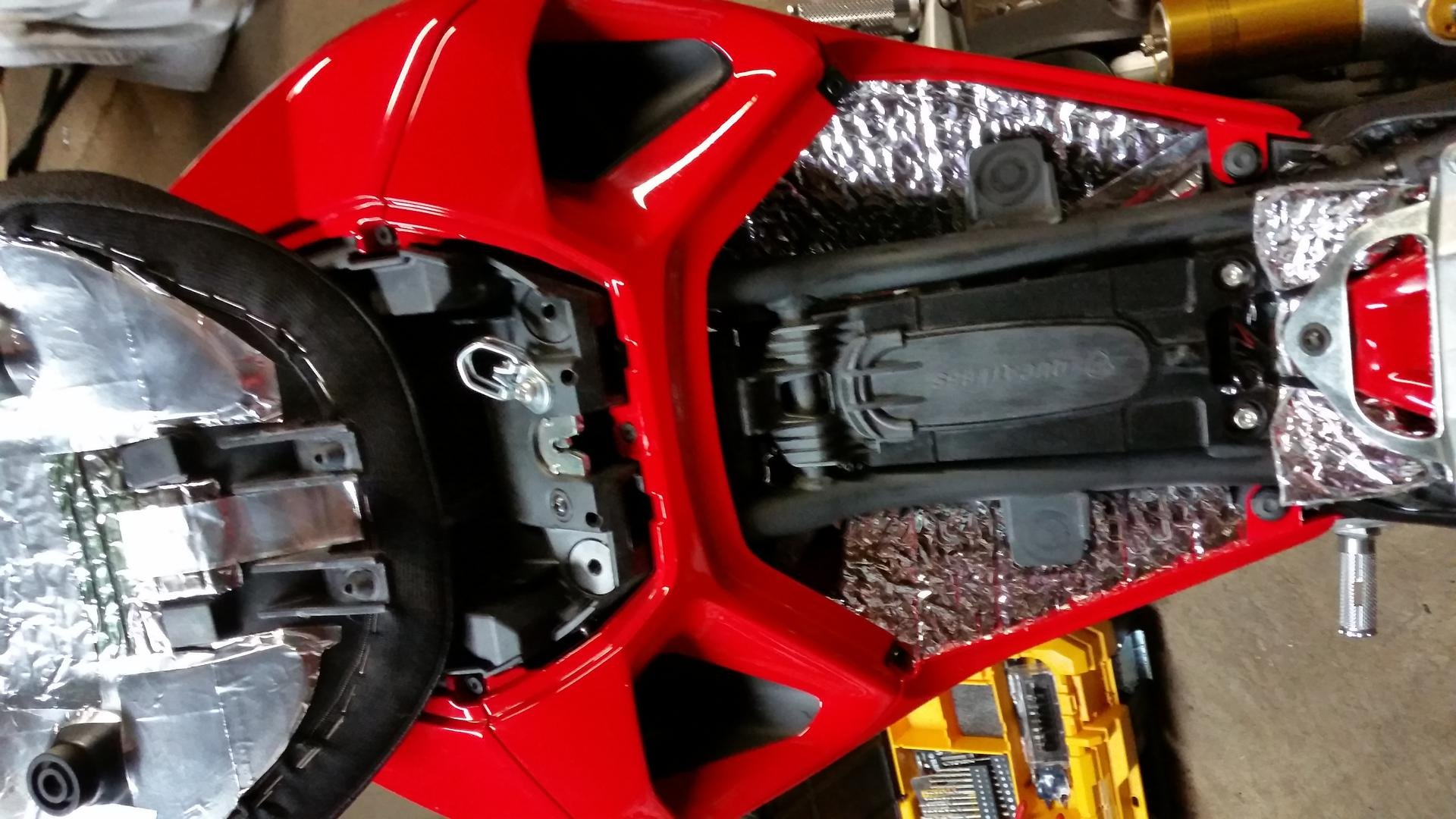 Ducati Monster   Helmet Lock