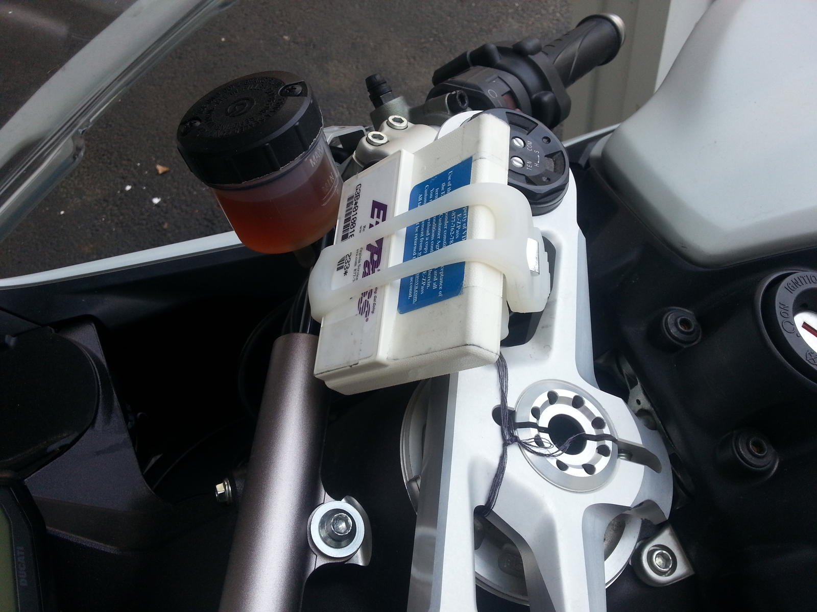 how to mount ez pass on motorcycle